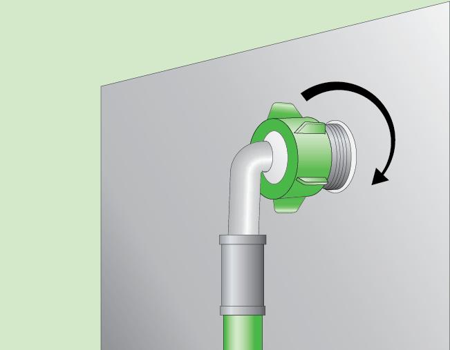 Схема откручивания шланга подачи воды