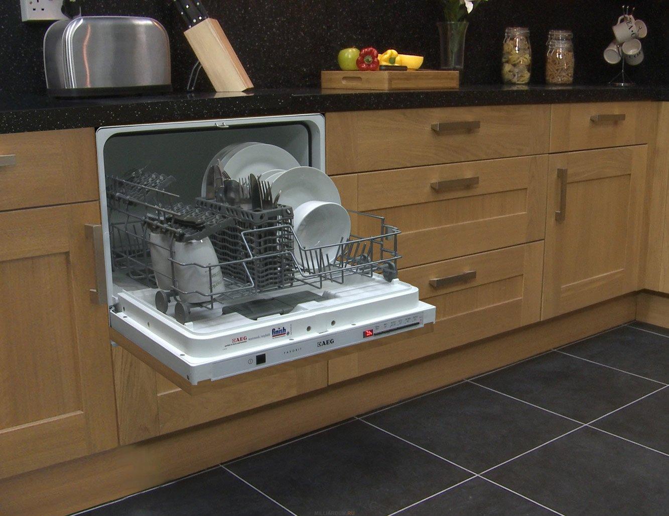 Встраиваемая ПММ в интерьере кухни