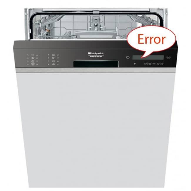 Ошибка посудомоечной машины Аристон