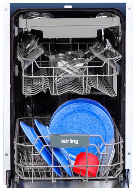 Загрузка посуды в ПММ Кертинг