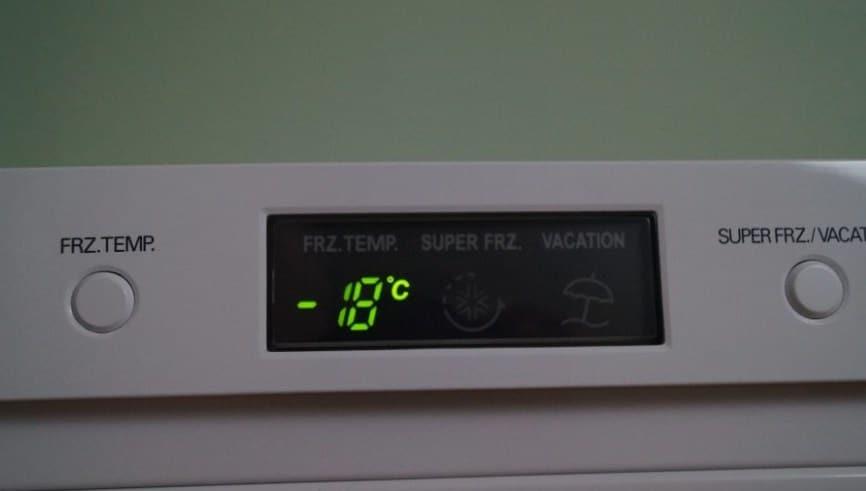 Температура заморозки