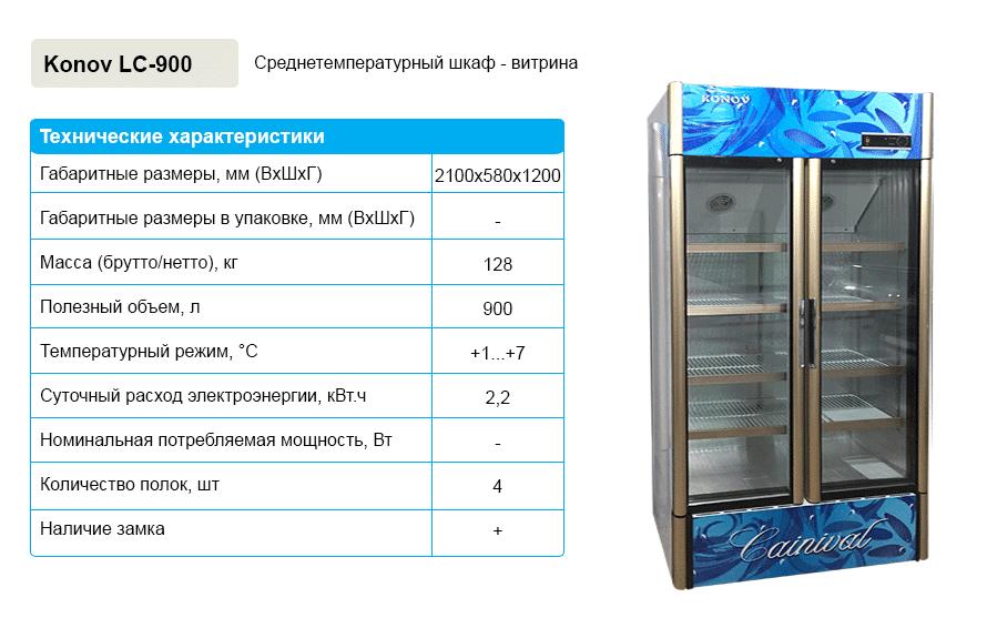 Среднетемпературная шкаф-витрина