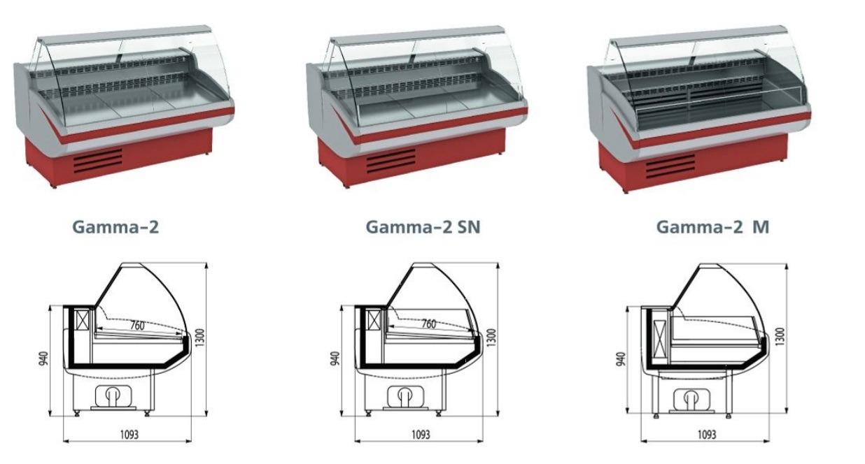 Размеры различной ширины выкладки
