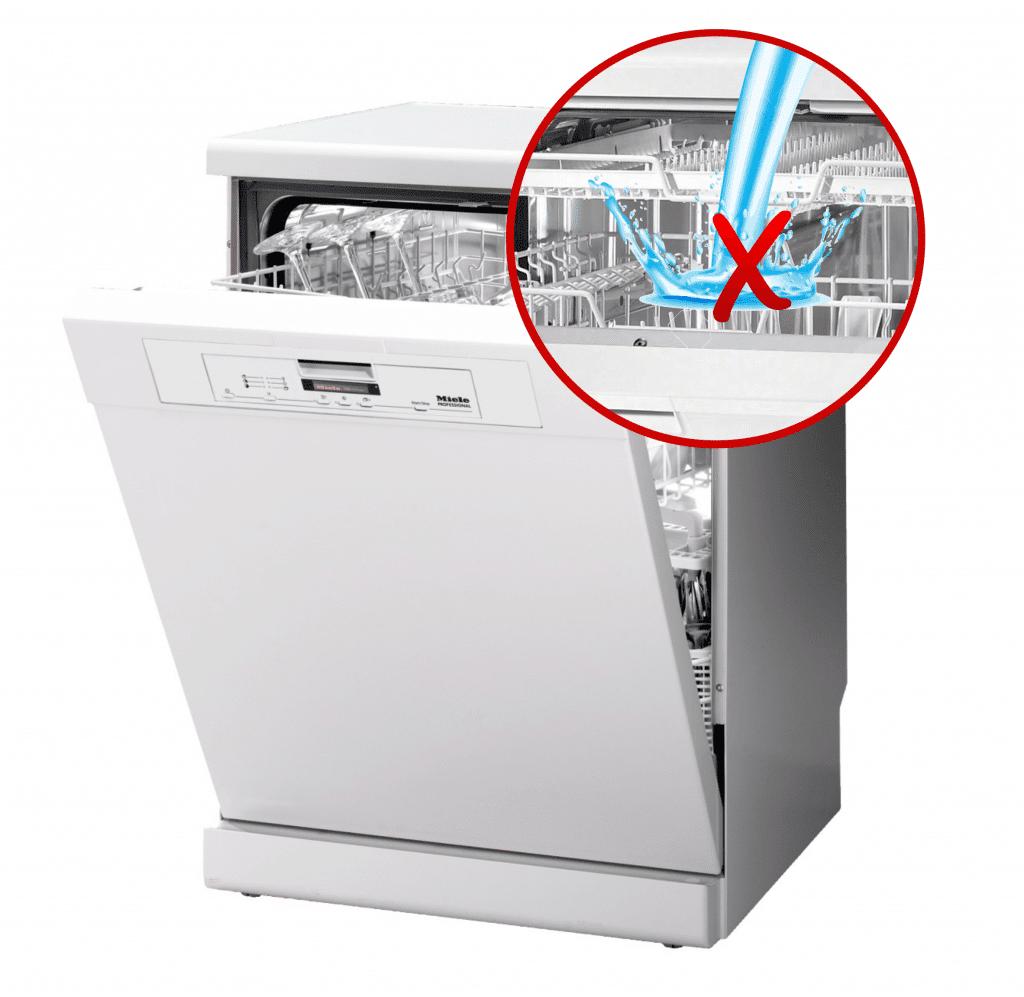 Перелив воды в посудомоечной машине
