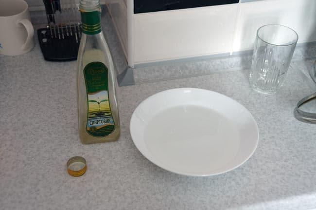 Уксус и вода