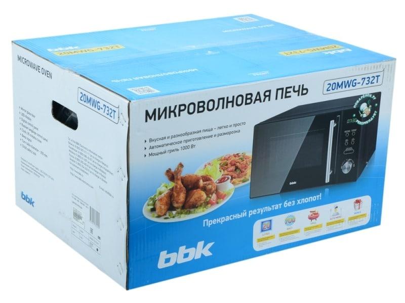 Микроволновая печь ВВК в упаковке