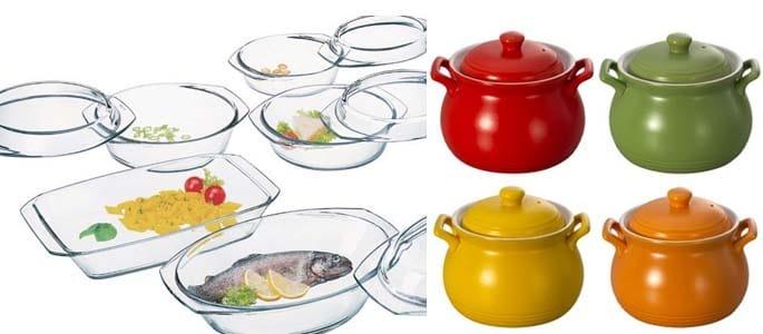 Типы посуды для СВЧ