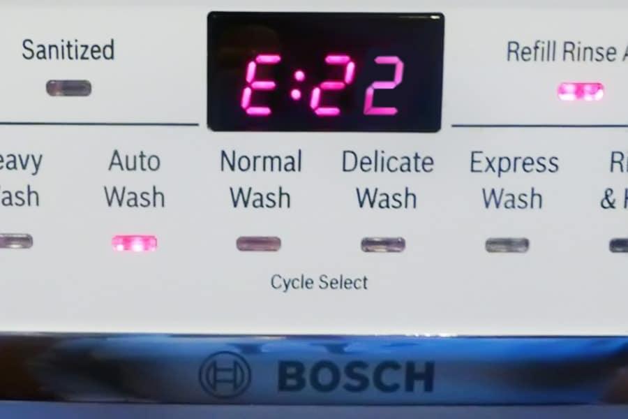 Ошибка ПММ Бош е22
