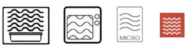 Значки разрешающие использование посуды в СВЧ