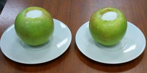 Тестирование печей в запекании яблок